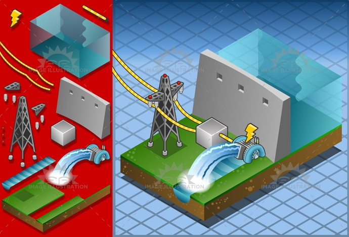 Watermill 02 Building Isometric