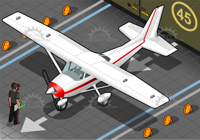 airforce, airplane, airport, airscrew, AirVehicle, aviation, aviator, cessna, CoastGuard, engine, fly, hangar, helix, isolated, isometric, landed, old, pilot, piper, plane, rotor, staff, transportation, ultralight, vintage, war, wing