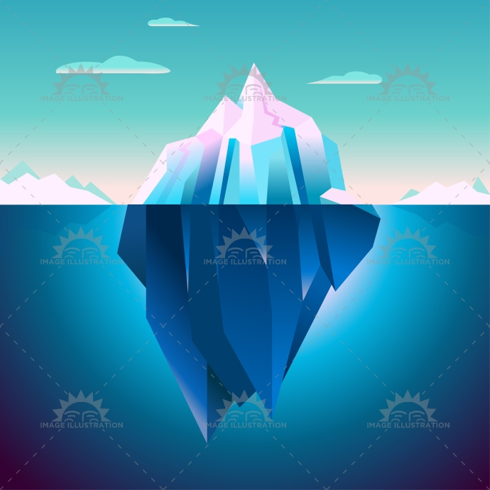 Quarz iceberg serenity lowpoly dream minimal wallpaper