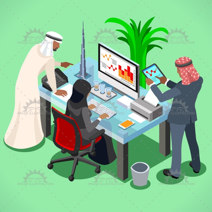 3d, adult, arab, arabic, background, business, businessman, company, contract, cooperation, corporate, deal, eastern, ethnicity, female, finance, flat, group, illustration, international, investment, isometric, laptop, leader, male, man, manager, meeting, muslim, oil, partner, partnership, people, portrait, presentation, room, success, table, team, teamwork, template, trade, training, vector, web, women