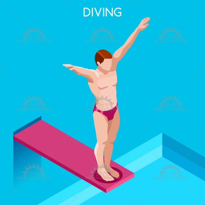 2016, 3d, advantage, athlete, audacity, background, board, cartoon, champion, championship, character, competition, competitive, concept, courage, dive, diver, diving, flat, games, high, icon, illustration, infographic, international, into, isolated, isometric, logo, man, online, people, play, pool, race, silhouette, sport, style, summer, swimmer, swimming, symbol, vector, water, web, winner