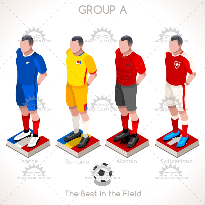 2016, 3d, albania, apparel, bet, champion, championship, chart, clothes, collection, countries, cup, euro, european, final, finalist, flag, football, france, french, game, group, group a, icon, illustration, infographic, isolated, isometric, jersey, match, online, participating, people, player, qualification, qualified, romania, soccer, sport, stage, Switzerland, t-shirt, team, tournament, uefa, uniform, vector, web