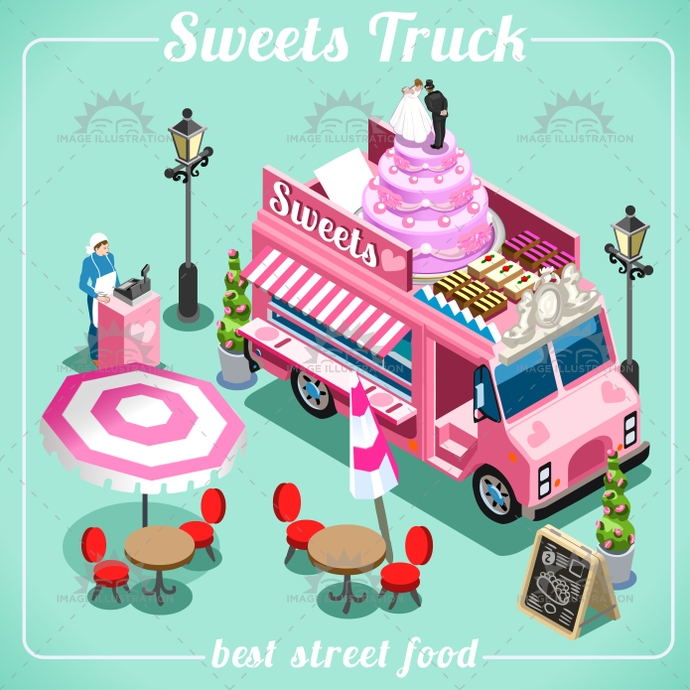 3d, app, away, bakery, breakfast, bright, business, cake, candy, catering, chef, delivery, diet, eat, elements, flat, flavor, food, fresh, icon, illustration, industry, isolated, isometric, just, love, master, passion, pastry, search, set, snack, street, sugar, summer, sweet, symbol, take, taste, template, truck, van, vector, vehicle, web