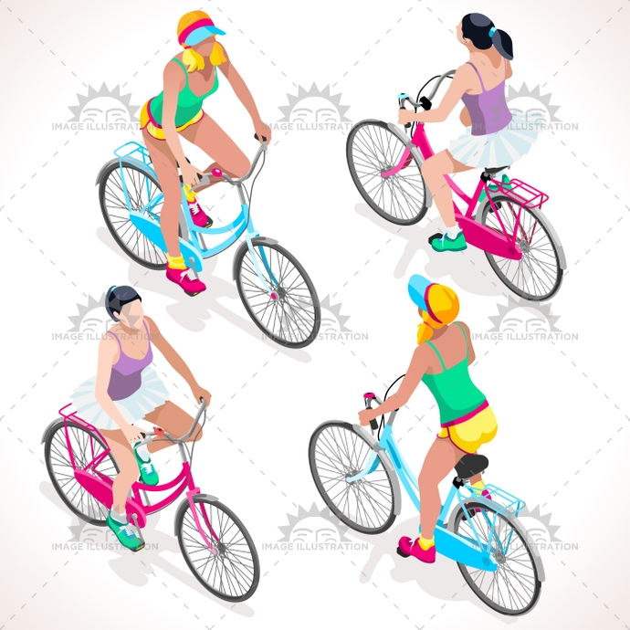 3d, 3D cyclist, 3D people, apparel, bicycle, bike, biker, camp, cartoon, character, cycle, Cycling, cyclist, flat, flat people, freshness, girl, illustration, isolated, isometric, isometric cyclist, isometric girl, isometric people, isometric woman, lane, mood, outfit, pad, path, people, rider, riding, shorts, sport, street, style, summer, summer sports, teen, tile, time, vacation, vector, young