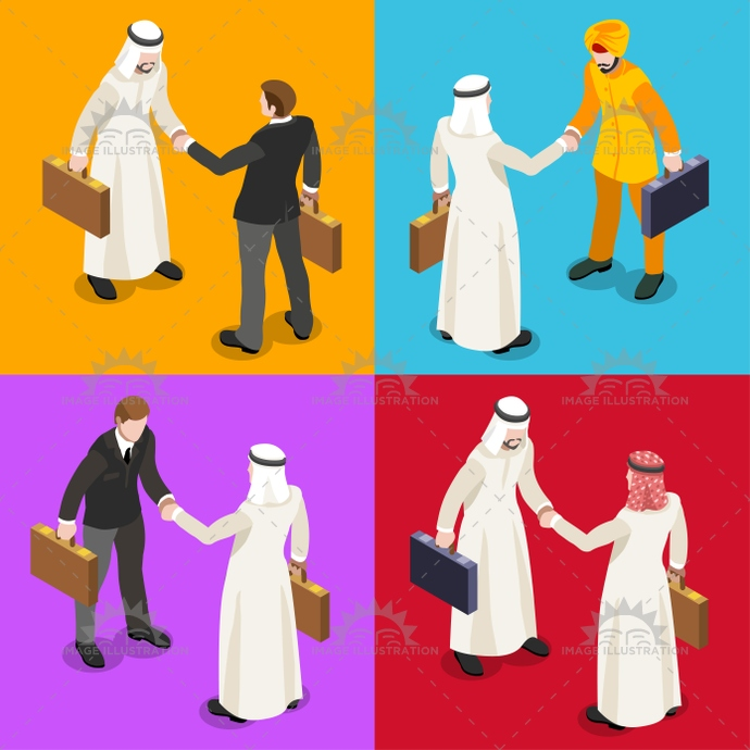 arab, arabian, arabic, bedouin, business, businessman, caliph, candora, collaboration, commerce, corporate, desk, dishdasha, ethnicity, finance, freelance, hand, handshake, illustration, industry, international, islamic, isolated, isometric, kaffiyeh, keffiyeh, kefiah, lobby, man, meeting, middle eastern, muslim, negotiation, office, oil, partners, people, saudi, shaking, sheik, standing, startup, stylish, success, talking, technology, trade, vector, web