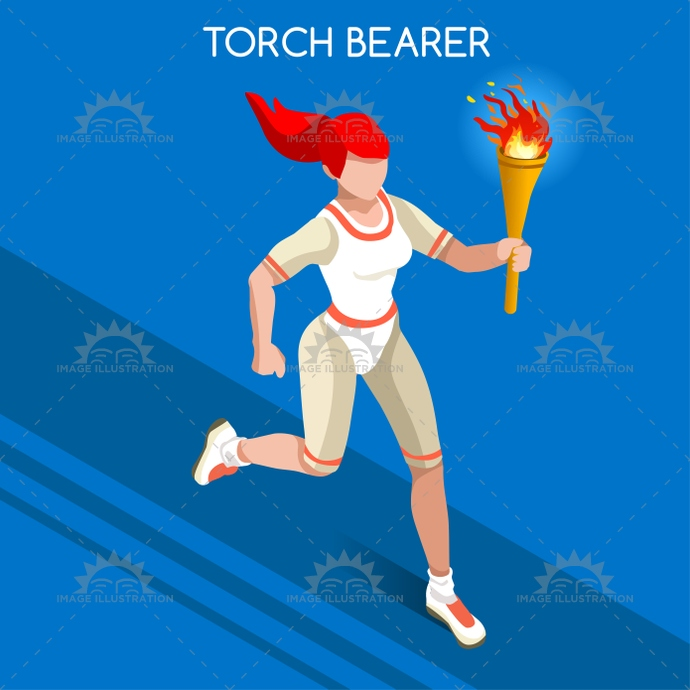 2016, 3d, advantage, athlete, background, cartoon, champion, championship, character, competition, competitive, concept, event, fire, flame, flat, games, girl, icon, illustration, infographic, international, isolated, isometric, jogger, light, logo, people, relay, runner, running, shoes, silhouette, speed, spirit, sport, sprint, summer, symbol, torch, torchbearer, vector, walking, web, woman, world