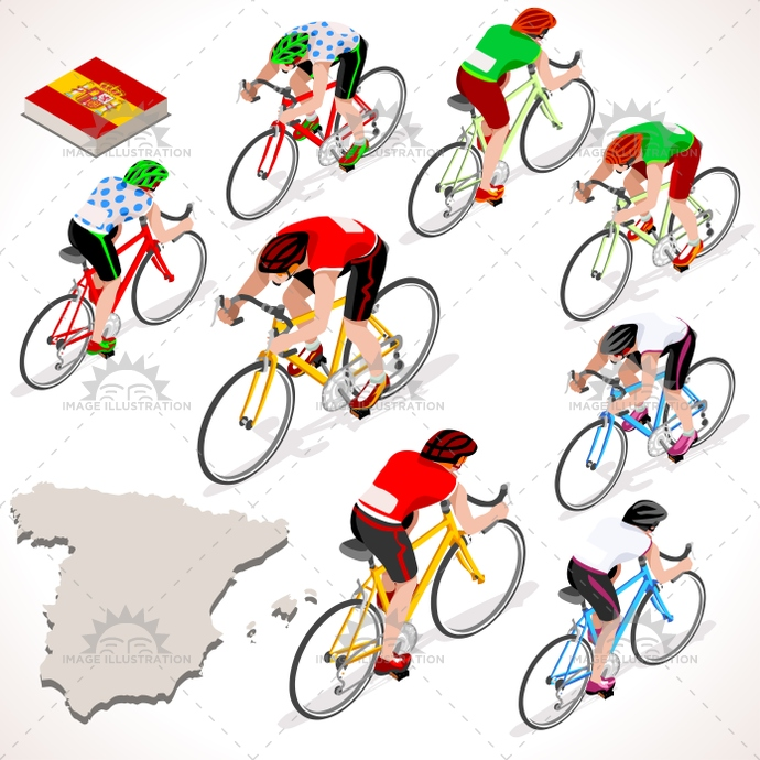 2016, 3d, art, bicycle, bicyclist, bike, biker, cartoon, character, clip, competition, Cycling, cyclist, espana, flat, giro, graphic, group, icon, illustration, isolated, isometric, lane, logo, man, path, people, race, rider, riding, road, sign, silhouette, spain, sport, street, Summer Games, symbol, tile, tour, urban, vector, vehicle, vuelta
