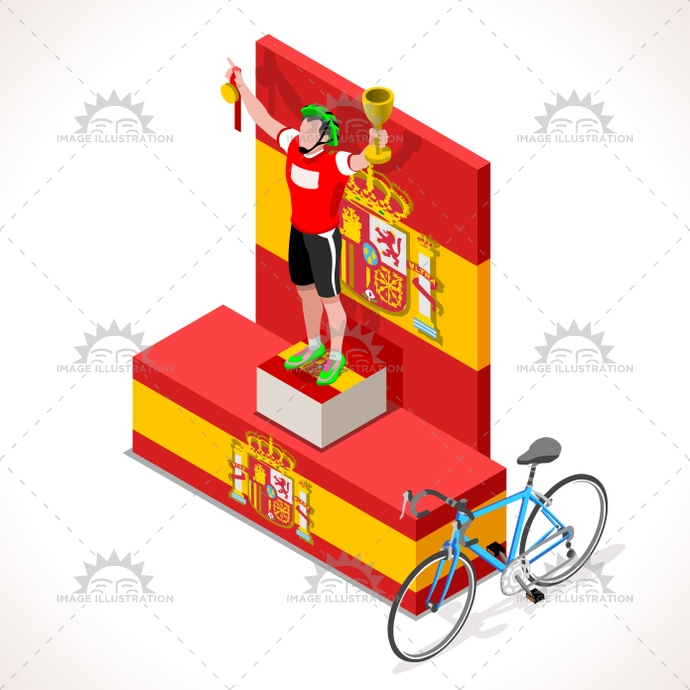 2016, 3d, art, bicycle, bicyclist, bike, cartoon, character, clip, competition, competitiveness, Cycling, cyclist, espana, final, first, flat, graphic, group, icon, illustration, isolated, isometric, lane, logo, man, path, people, podium, race, riding, sign, silhouette, spain, sport, Summer Games, symbol, tile, tour, vector, victory, vuelta, win
