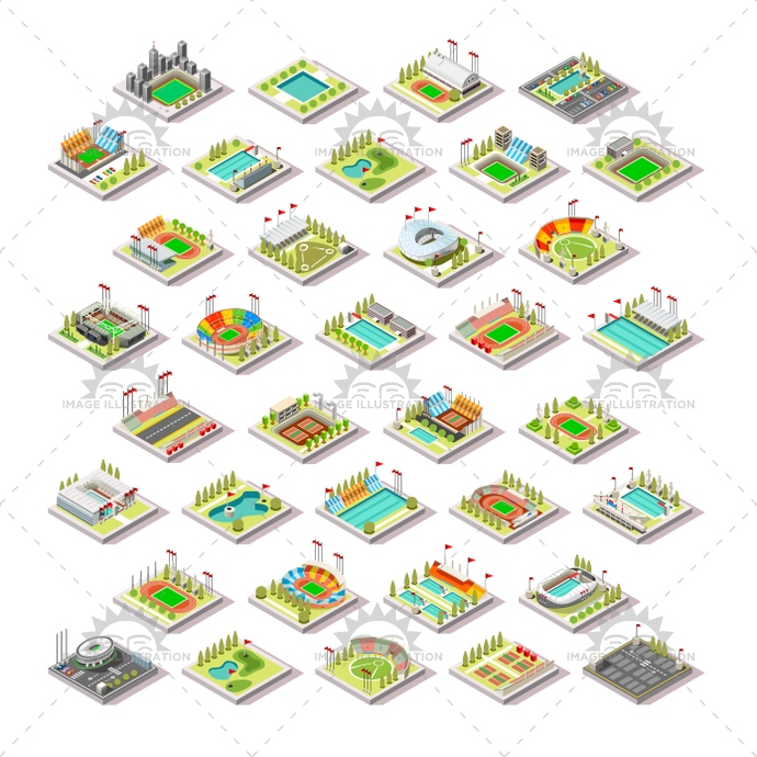 3d, arena, athletics, billboard, building, camp, car, cartography, city, cityscape, collection, construction, court, elements, estate, exterior, facility, field, game, hall, icon, illustration, indoor, infographic, isometric, landscape, map, markings, park, parking, plan, real, road, route, schematic, set, soccer, sport, stadium, structure, summer, town, track, traffic, urban, vector