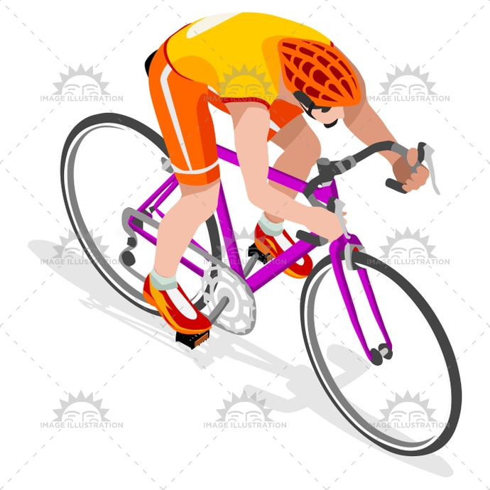 Cycling Road 2016 Sports 3D Isometric Vector Illustration