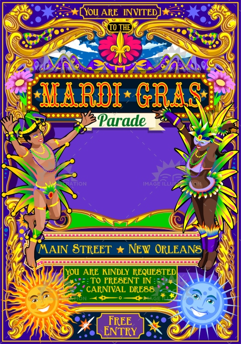 app, background, beads, card, carnival, court, crazy, crowd, dance, dancer, design, event, fair, festival, float, fool, funfair, game, illustration, invitation, isolated, jester hat, latin, lily, mardi gras, mask, masquerade, night, parade, party, people, performer, poster, rides, samba, show, sign, symbol, template, theme, vector, venetian, venice