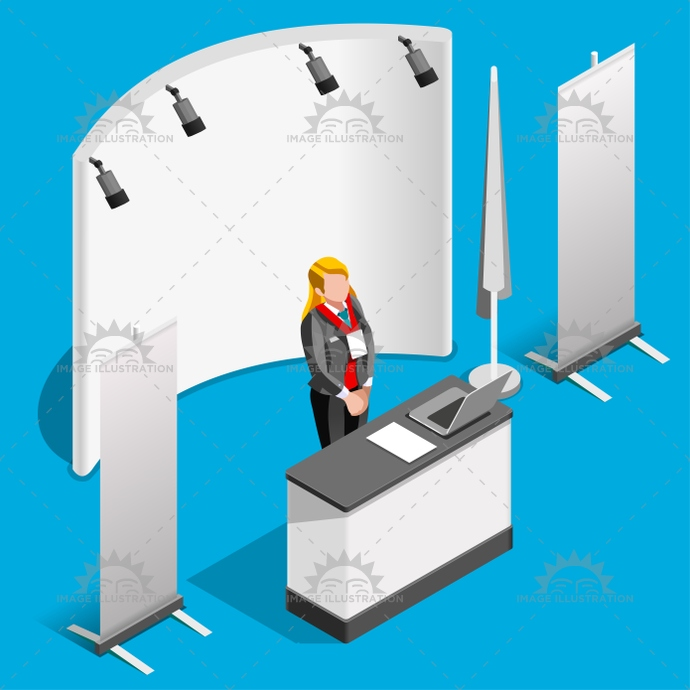 3d, advertising, agency, area, booth, collection, commercial expo, computer, corporate, counter, creative, demo, demonstration, design, desk, display, exhibition, front, hall, hotel, icon, illustration, info point, information, isolated, isometric, item, mockup, panel, people, product exposition, promo, promotion, promotional, reception, retail, roll up, sale, set, shop, show, sign, signage, stall, stand, store, trade, vector, woman