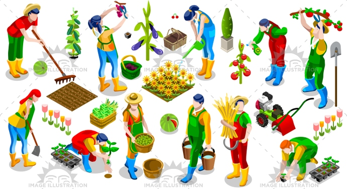 3d, agriculture, barley, collection, creative, crop, design, farm, farmer, farming, fence, field, fruit, game, garden, gardening, green, harvest, icon, illustration, isolated, isometric, logo, market, old, people, plant, scene, seed, set, shipping, silo, sow, symbol, tool, vector, vegetable, village, villager, vintage, wheat, work