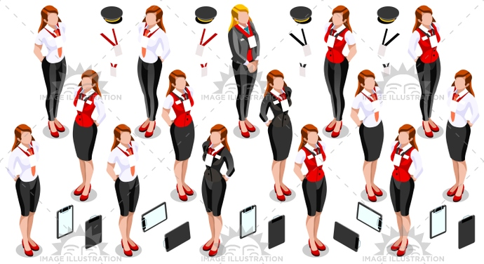 3d, air, airline, area, attendant, bartender, buffet, butler, catering, chauffeur, cocktail, collection, concierge, creative, crew, crowd, design, element, female, flight, front office, girl, hostess, hotel, icon, illustration, infographic, isolated, isometric, limo driver, person, personal assistant, reception, receptionist, service, serving, set, stewardess, vector, waitress, woman