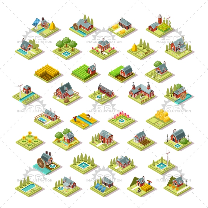 3d, agriculture, asian, barley, barn, building, collection, creative, design, farm, farmer, farming, field, fruit, game, green, harvest, harvester, hay, home, house, icon, illustration, indian, isolated, isometric, logo, market, old, red, rows, scene, set, silo, stuff, symbol, tile, tool, vector, vegetable, vintage, wheat