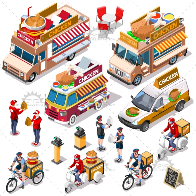 3d, ads, advertise, away, bundle, car, chicken, client, collection, customer, delivery, distribution, door, family, fast, food, fried, girl, guy, home, icon, infographic, isolated, isometric, kit, leaflet, man, meal, online, order, people, person, placard, process, service, set, shipping, site, standing, steps, take, takeaway, truck, van, vector, vehicle, web, white, wings, worker