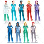 Medical Nurse and Doctor Vector Image Collections