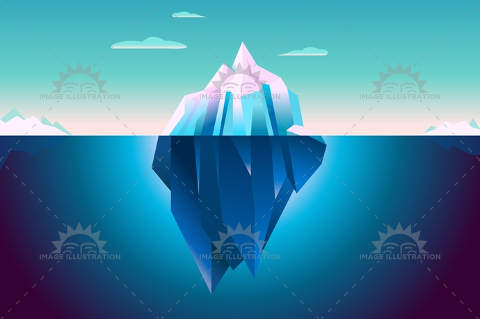3d, art, artwork, background, blue, clouds, design, digital art, dream, flat, horizon, ice, iceberg, illustration, lowpoly, material design, minimal, minimalistic, mountains, ocean, pixel art, quartz, sea, serenity, simple, simple background, underwater, vector, wallpaper, water