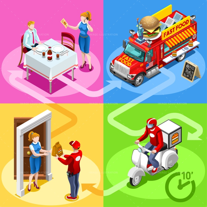3d, ads, advertise, away, burger, car, client, customer, delivery, distribution, door, family, fast, flyer, food, french, fry, girl, guy, hamburger, home, icon, infographic, isolated, isometric, kit, leaflet, magazine, man, meal, online, order, people, person, poster, process, ready, service, shipping, site, standing, steps, take, takeaway, truck, van, vector, web, white, worker
