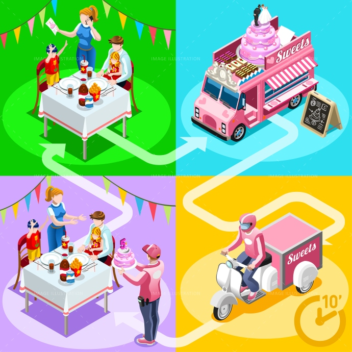 3d, ads, advertise, away, birthday, cake, car, client, customer, delivery, dessert, distribution, door, family, fast, flyer, food, girl, gourmet, guy, home, icon, infographic, isolated, isometric, kit, leaflet, magazine, man, meal, online, order, people, person, placard, poster, process, ready, service, shipping, site, standing, steps, take, truck, van, vector, web, white, worker