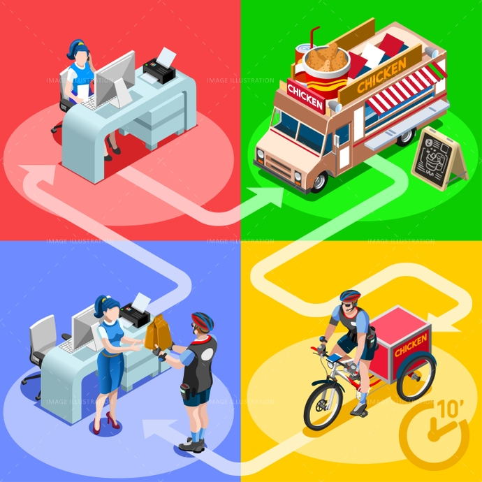 3d, ads, advertise, away, car, chicken, client, customer, delivery, distribution, door, family, fast, flyer, food, fried, girl, guy, home, icon, infographic, isolated, isometric, kit, leaflet, magazine, man, meal, online, order, people, person, placard, poster, process, ready, service, shipping, site, standing, steps, take, takeaway, truck, van, vector, web, white, wings, worker