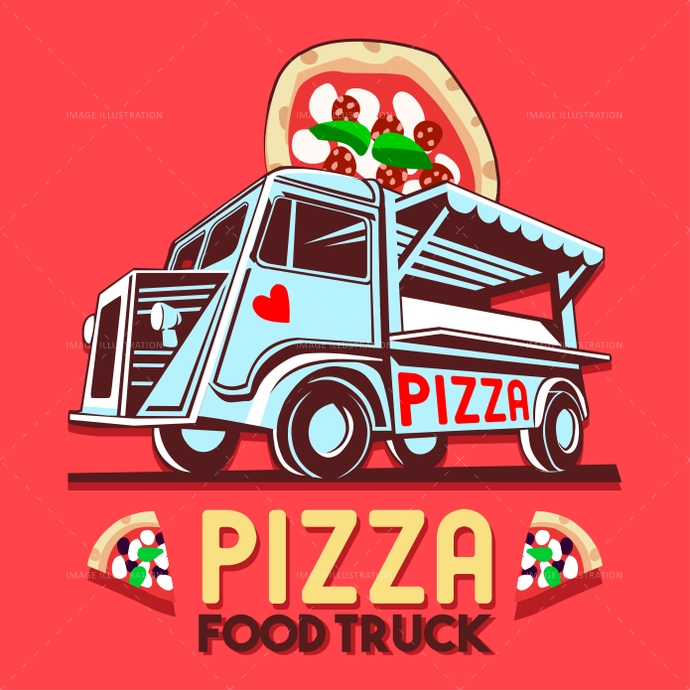 ads, advertise, background, badge, business, car, catering, chef, classic, delivery, design, dinner, driving, eat, eatery, fast, festival, food, fork, front, graphic, grocery, hipster, icon, illustration, isolated, label, logo, logotype, lunch, meal, mobile, old, pie, pizza, round, service, shop, signs, slice, street, symbol, transport, truck, van, vector, vehicle, vintage, wheel