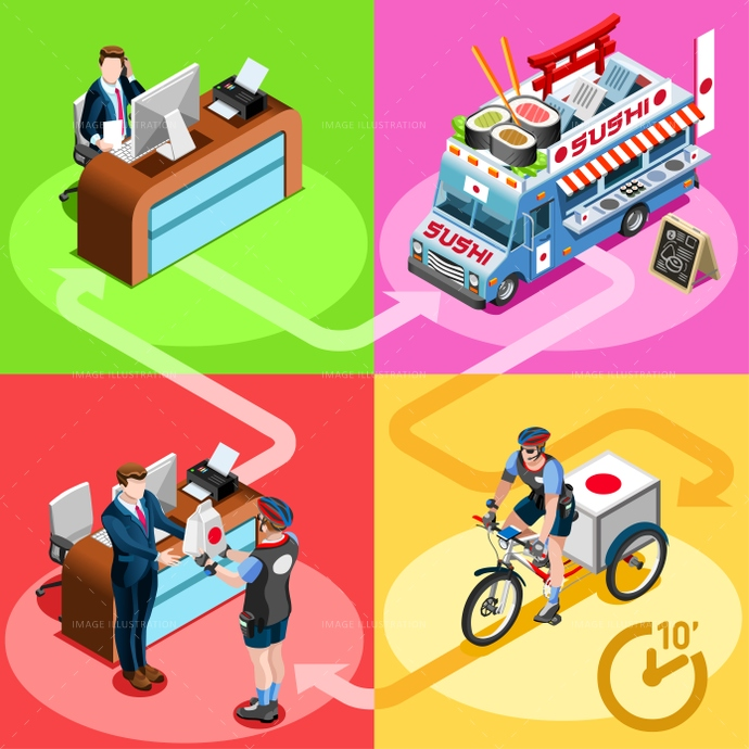 3d, ads, advertise, away, car, client, customer, delivery, distribution, door, family, fast, flyer, food, girl, guy, home, icon, infographic, isolated, isometric, japanese, kit, leaflet, magazine, man, meal, online, order, people, person, placard, poster, process, ready, service, shipping, site, standing, steps, supermarket, sushi, take, takeaway, truck, van, vector, web, white, worker
