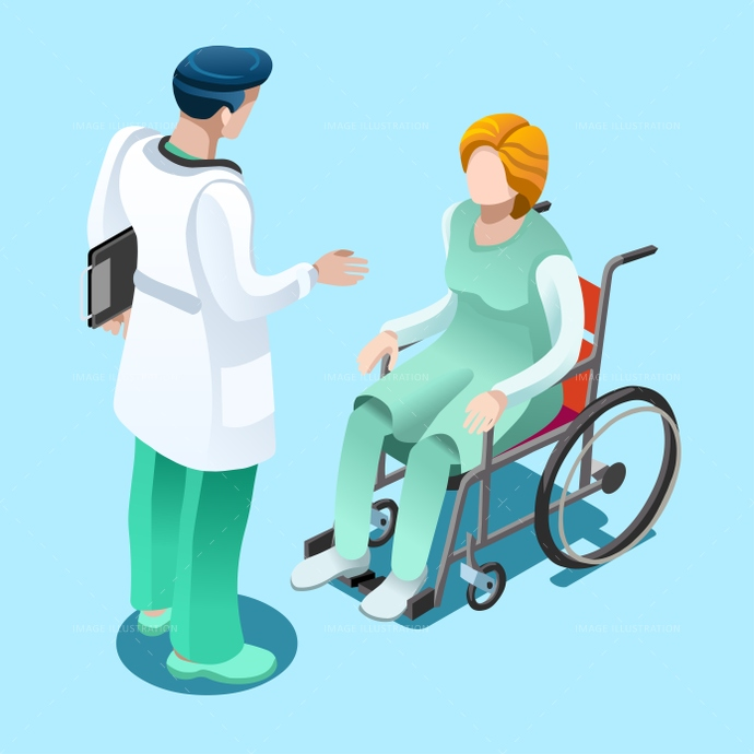 bed, bedroom, care, clinic, clinical, concept, design, doctor, elderly, family, female, flat, health, healthcare, home, Hospital, ill, illness, illustration, infographic, isometric, isometric people, male, man, medic, medical, medicine, nurse, old, patient, patient in hospital, people, physician, professionals, room, safety, senior, support, talking, team, therapy, treatment, vector, visit, wheelchair, woman