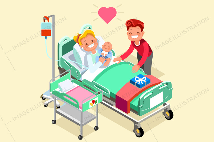 3d, baby, beautiful, bed, birth, body, book, care, cartoon, characters, children, clinic, family, flat design, gestation, girl, health, healthcare, healthy, holding, home, Hospital, hug, illustration, infographic, isolated, isometric, kid, life, lifestyle, maternity, medical, medicine, mom, mother, motherhood, new, newborn, people, person, pregnancy, pregnant, prenatal, set, simple, smile, vector, white, woman, young