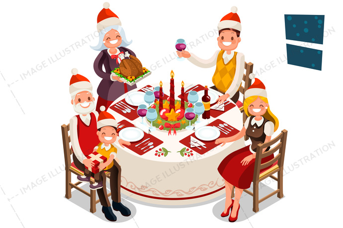 book, boy, cartoon, celebrate, celebration, characters, children, christmas, december, decoration, dinner, eve, family, father, flat design, food, funny, gift, girl, grandfather, happy, hat, holiday, home, illustration, isolated, isometric, kids, love, man, merry, new, night, party, people, portrait, present, santa, snow, table, together, traditional, turkey, vector, winter, woman, wreath, xmas, year