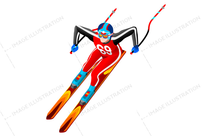 2018, 3d, athlete, cartoon, character, clipart, competition, cross-country, design, equipment, european, federation, flat, fun, games, giant, gold, icon, illustration, individual, infographic, international, isolated, isometric, jump, korea, landscape, logo, male, man, medal, olympic spirit, outdoor, people, person, player, pyeongchang, race, ramp, ski, skier slalom, skiing, snow, sport, sportsman, symbol, vector, winner, wins, winter
