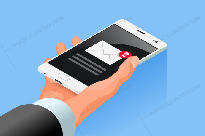 alert, app, application, business, button, cell, cellphone, communication, concept, contact, data, digital, display, e-mail, email, envelope, flat design, hand, hold, icon, illustration, inbox, interface, isolated, isometric, letter, mail, media, message, messaging, mobile, modern, newsletter, notification, outbox, phone, receive, remind, screen, send, showing, sign, smart, smartphone, sms, symbol, telephone, touch, vector, web