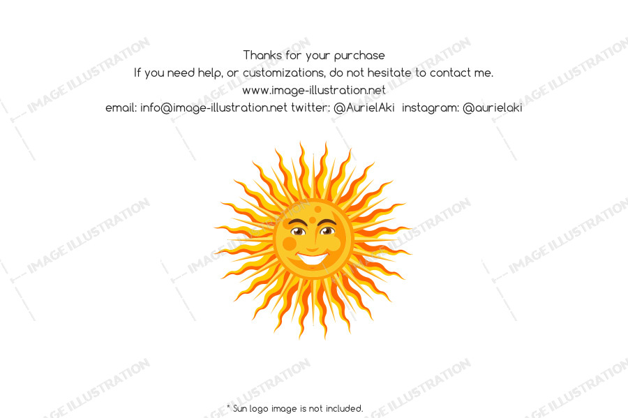Thank you, If you need help contact me. www.image-illustration.net: Twitter: @AurielAki Instagram: @aurielaki. Image with smiling sun logo.