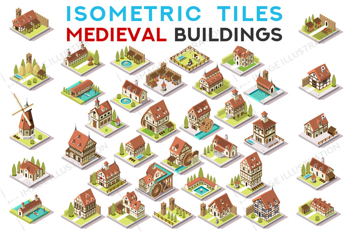 3d, ancient, archeological, architecture, area, art, blocking, breton, building, centre, church, city, Clip Art, clipart, design, dome, drawings, european, exclusive, facade, fantasy, game, gfx, graphics, historical, home, hotel, house, hub, icon, illustration, images, infographic, isometric, isometric buildings, landmark, map, medieval, old, pack, picture, resort, set, tiles, tileset, top view, vector, village, vintage, windmill