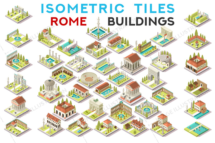 3d, ancient, archeological, architecture, area, arena, art, blocking, building, centre, city, Clip Art, clipart, design, drawings, european, exclusive, facade, fantasy, game, graphics, historical, home, house, hub, icon, illustration, images, infographic, isometric, isometric buildings, landmark, map, old, pack, picture, roman, rome, set, Temple, theater, tiles, tileset, top view, tourist, vector, village, vintage