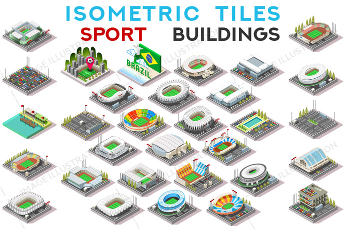 3d, architecture, area, arena, art, athletics, blocking, building, centre, city, Clip Art, clipart, design, drawings, exclusive, facade, facility, football, game, graphics, home, house, hub, icon, illustration, images, infographic, isometric, isometric buildings, landmark, map, pack, parking, picture, set, soccer, sport, stadium, tiles, tileset, top view, vector, village, vintage