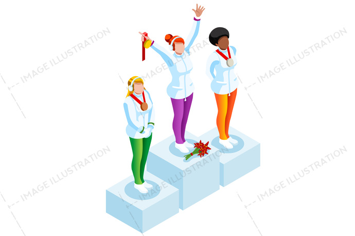 2018, 3d, athlete, cartoon, character, clipart, competition, concept, design, european, federation, female, flat, games, gold, hockey, ice, icon, illustration, individual, infographic, international, isolated, isometric, korea, logo, medal, olympic spirit, pedestal, people, person, player, podium, prize, pyeongchang, skating, ski, snowboard, sport, sportsman, success, symbol, union, vector, victory, win, winner, winter, woman, world