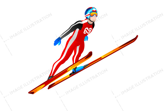 Ski Jump Winter Sports Clipart