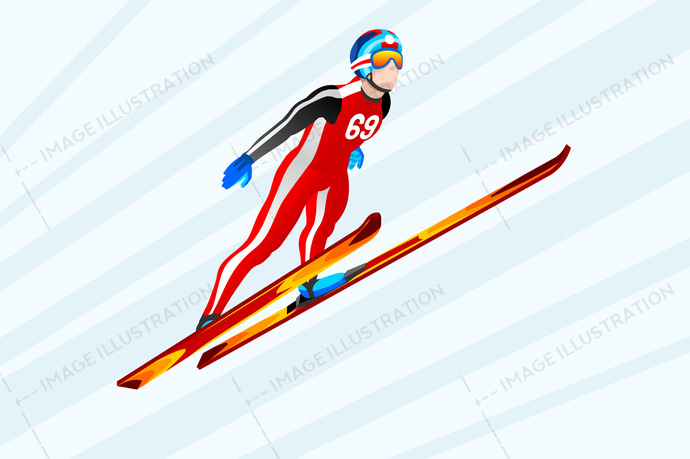 2018, 3d, athlete, cartoon, character, competition, cross-country, design, equipment, european, federation, flat, fun, games, gold, icon, illustration, individual, infographic, international, isolated, isometric, jump, jumping, korea, landscape, logo, male, man, medal, olympic spirit, outdoor, people, person, player, pyeongchang, race, ramp, ski, skier, skiing, snow, sport, sportsman, symbol, vector, winner, wins, winter