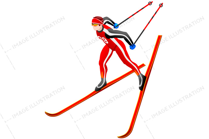 2018, 3d, athlete, cartoon, character, competition, cross-country, design, equipment, european, federation, flat, fun, games, gold, icon, illustration, individual, infographic, international, isolated, isometric, korea, landscape, logo, male, man, medal, olympic spirit, outdoor, people, person, player, pyeongchang, race, ramp, ski, skier, skiing, snow, sport, sportsman, symbol, vector, winner, wins, winter