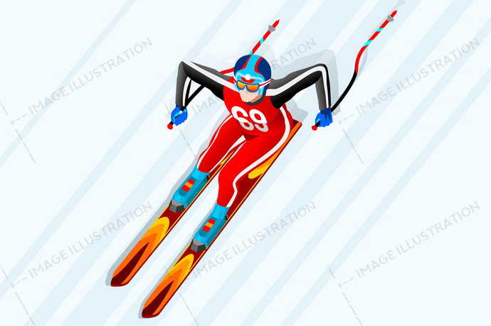 2018, 3d, athlete, cartoon, character, competition, cross-country, design, downhill, equipment, european, federation, flat, fun, games, giant slalom, gold, icon, illustration, individual, infographic, international, isolated, isometric, jump, korea, landscape, logo, male, man, medal, olympic spirit, outdoor, people, person, player, pyeongchang, race, ramp, ski, skier, skiing, snow, sport, sportsman, symbol, vector, winner, wins, winter