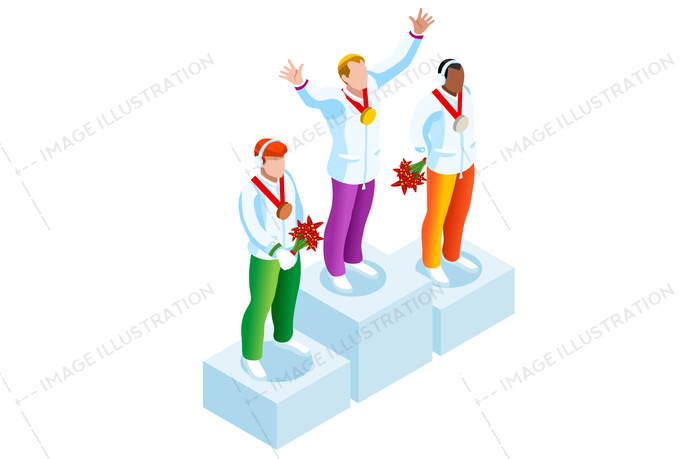 2018, 3d, athlete, cartoon, character, clipart, competition, concept, design, european, federation, flat, games, gold, hockey, ice, icon, illustration, individual, infographic, international, isolated, isometric, korea, logo, male, man, medal, olympic spirit, pedestal, people, person, player, podium, prize, pyeongchang, skating, ski, snowboard, sport, sportsman, success, symbol, union, vector, victory, win, winner, winter, world