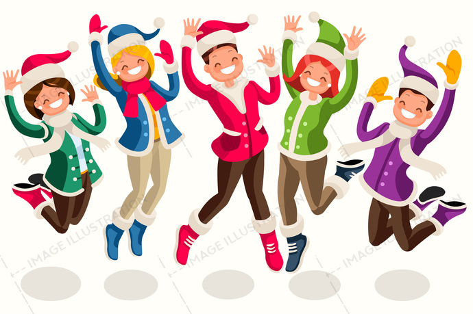 Winter Sport Active People Isometric Vector Cartoon