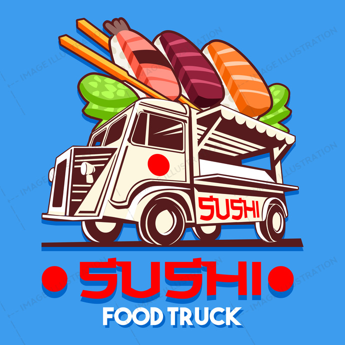 ads, advertise, asia, background, badge, business, car, catering, classic, delivery, design, dinner, driving, eat, eatery, fast, festival, fish, food, front, graphic, grocery, hipster, icon, illustration, isolated, japanese, label, logo, logotype, lunch, meal, mobile, old, raw, rice, round, sashimi, service, shop, signs, street, sushi, symbol, truck, van, vector, vehicle, vintage