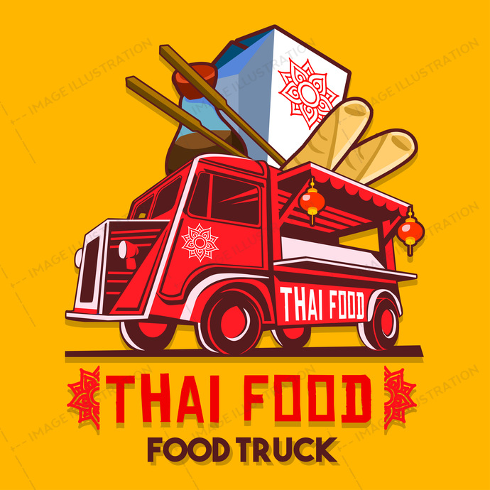 ads, advertise, background, badge, bangkok, business, car, catering, classic, curry, delivery, design, dinner, driving, eat, eatery, fast, festival, food, front, graphic, green, hipster, icon, illustration, isolated, label, logo, logotype, lunch, meal, mobile, old, red, restaurant, round, service, shop, signs, street, symbol, thai, transport, truck, van, vector, vehicle, vintage, wheel