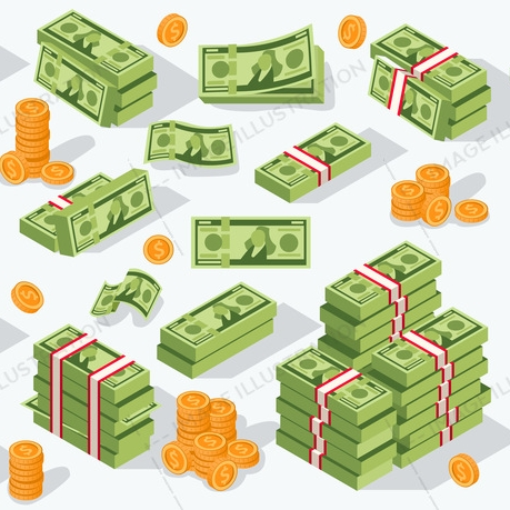Money Dollar Euro Vector