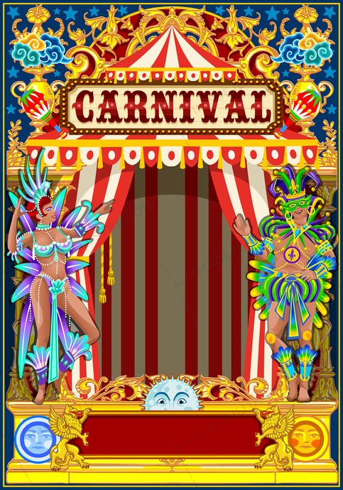 Carnival Gold And Red Poster