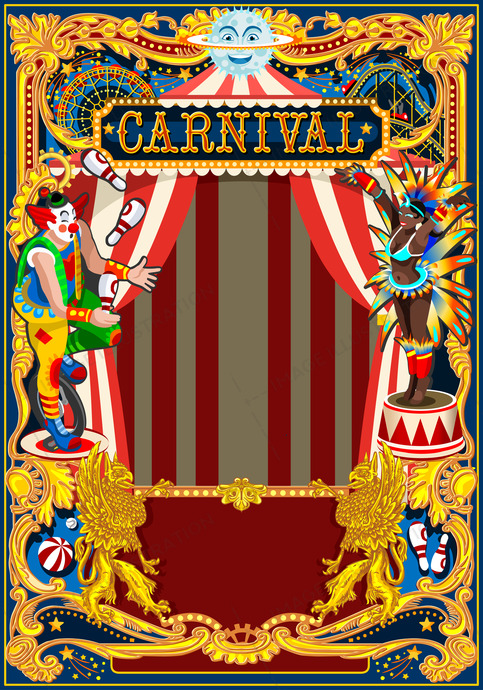 Carnival Poster Circus Theme Image Illustration