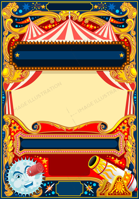 Circus Vector Frame Template Image Illustration