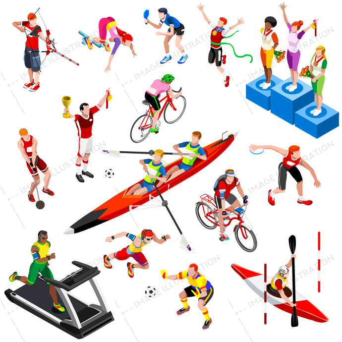 abstract, active, archery, art, athlete, athletic, ball, canoe, character, collection, competition, concept, Cycling, decorative, design, discus, element, exercise, football, game, graphic, gym, gymnastic, hammer, icon, illustration, isolated, isometric, jump, man, object, play, player, professional, racket, runner, running, set, sign, soccer, sport, sportsman, sprinter, symbol, table tennis, throwing, vector, winner podium, woman